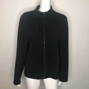 Womens Briggs New York Black Suit Jacket Size XL